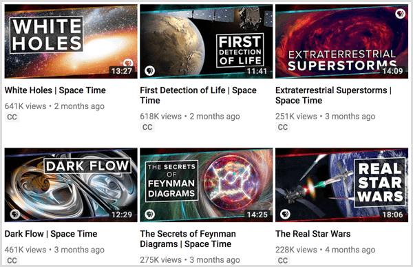 YouTube playlist example