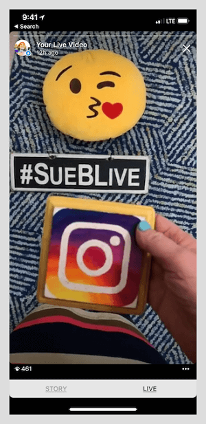 Sue gets a lot of engagement via Instagram stories.