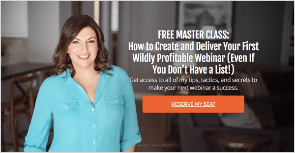 Use webinars to share the advantages of and sell courses.