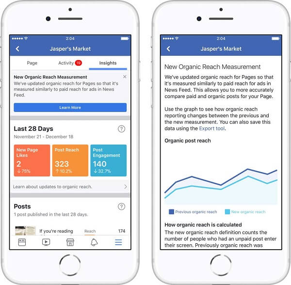 Facebook rolled out two new updates to Page Insights that promises to help businesses understand the results that matter most.