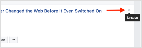 Facebook unsave post