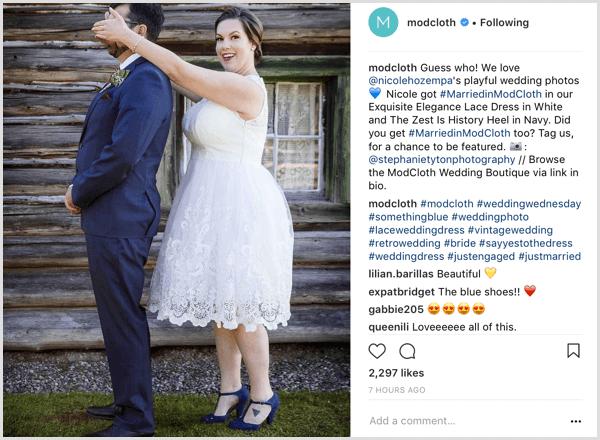 Instagram brand hashtag example