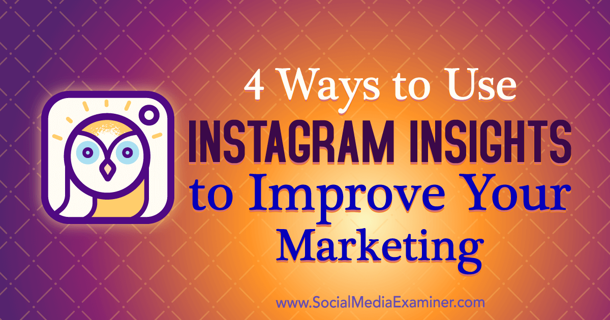 Use Instagram insights to compare content, measure campaigns, and see how individual posts are performing.
