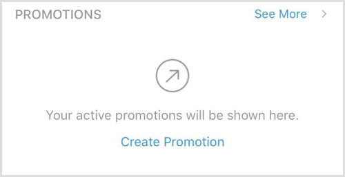 Instagram Insights Promotions