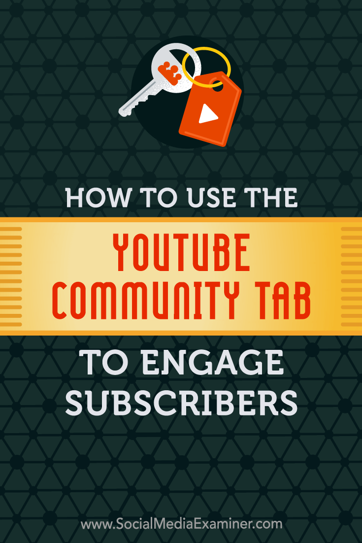 Find out how to use the YouTube Community tab to post updates, create polls, share GIFs, and interact with subscribers and visitors.