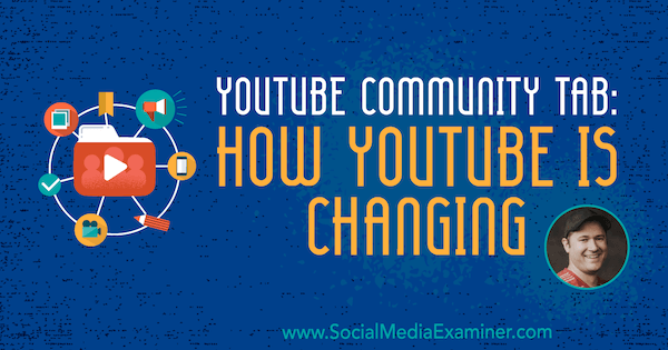 YouTube Community Tab: How YouTube Is Changing featuring insights from Tim Schmoyer on the Social Media Marketing Podcast.