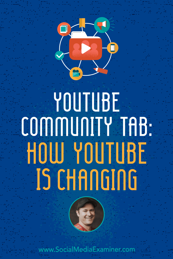 Social Media Marketing Podcast 288. In this episode Tim Schmoyer explores where YouTube is heading and dives deep into the Community tab.
