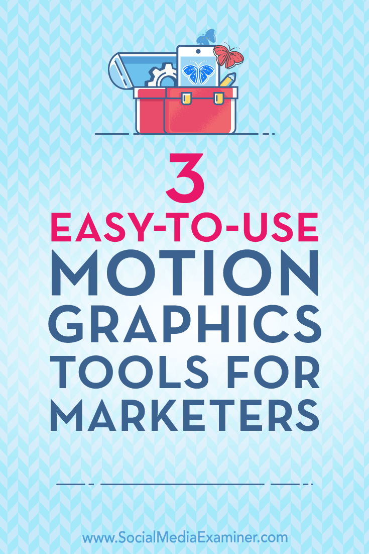Find three affordable tools that create animated motion graphics for social media ads and posts.