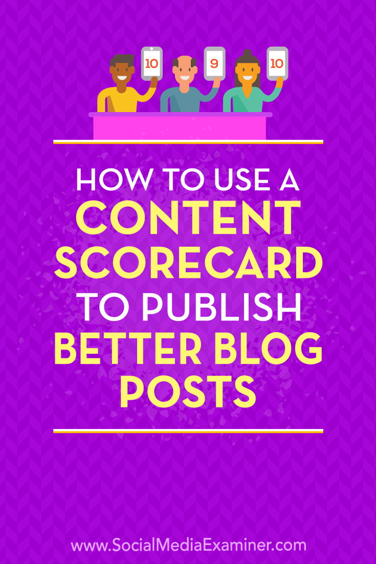 Learn how to develop and use a content scorecard to ensure the blog posts you publish consistently meet your quality standards.