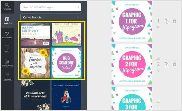 Canva create images from template