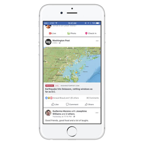 Facebook expands breaking news tag to more publishers.