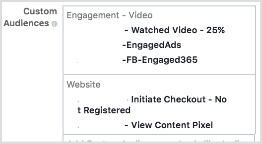 Target Facebook custom audiences that have seen your messages before.