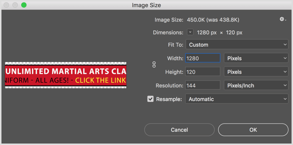Photoshop Image Size dialog box