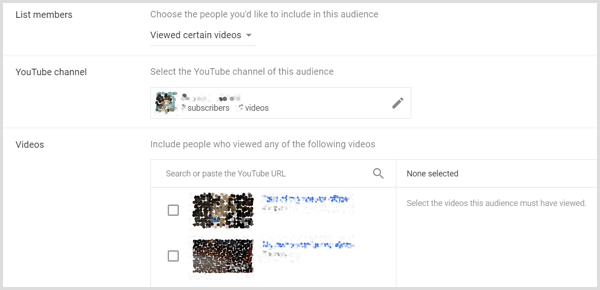Google AdWords remarking options based on video view