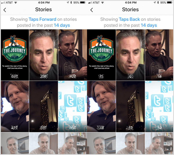 Instagram Analytics provides taps forward and taps back metrics for Instagram Stories.