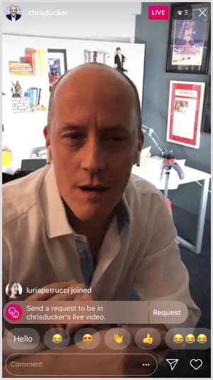 Instagram Live stream Chris Ducker