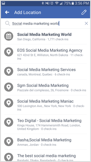 Search for your event in Facebook.
