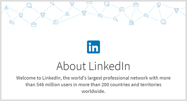 LinkedIn stats note the platform has millions of members and global reach.