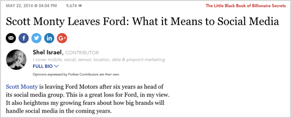 Scott Monty lead the social media charge for Ford.