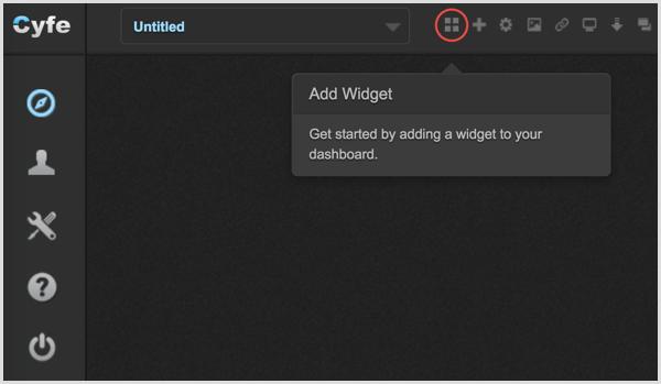 Cyfe Add Widget icon