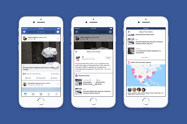 Facebook shares more context around articles and publishers shared in the News Feed.