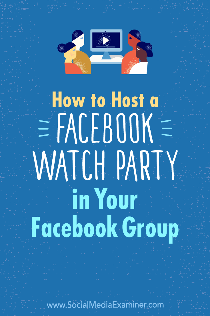 Discover how to run a Facebook watch party inside your Facebook group so you can watch and comment on videos together.