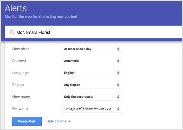 Set up a Google Alert for your business.