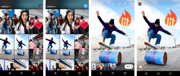 Android users now have the ability to upload multiple photos and videos to their Instagram Stories all at once.