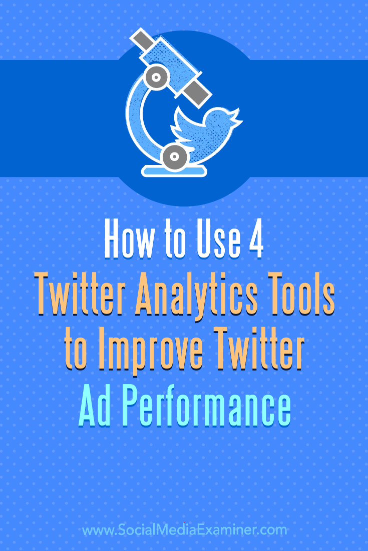 Discover four analytics tools to help you research and build better-targeted Twitter ad campaigns.