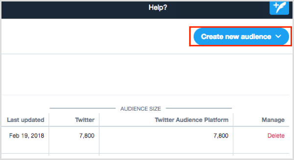 Twitter Ads Audience Manager