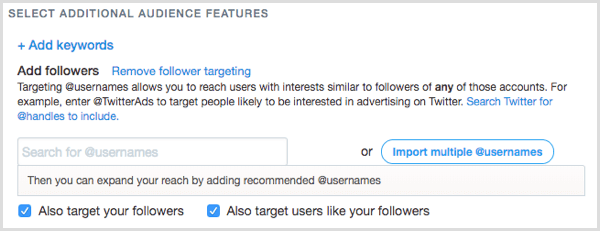 Twitter Ads follower targeting