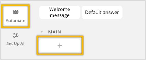 ChatFuel maakt een nieuw blok aan