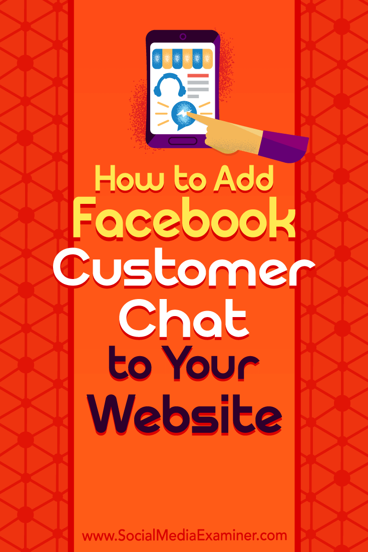 Learn how to add a Facebook Messenger customer chat widget to your site so you can have a live conversation with site visitors.