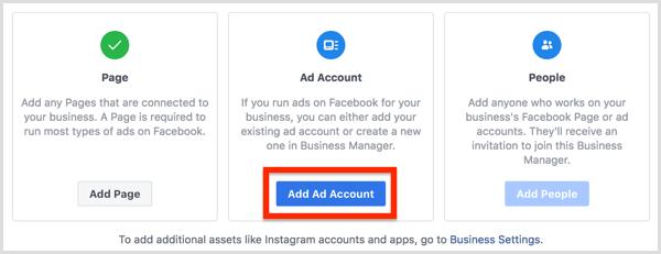 Click the Add Ad Account button.