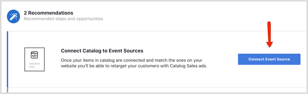 Facebook Connect Event Source button