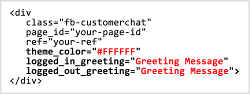 ChatFuel Messenger chat plugin code