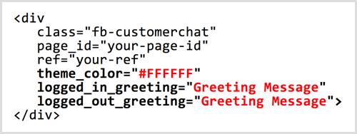 Código de complemento de chat ChatFuel Messenger