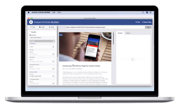 Facebook rolls out Instant Articles Builder Tool.