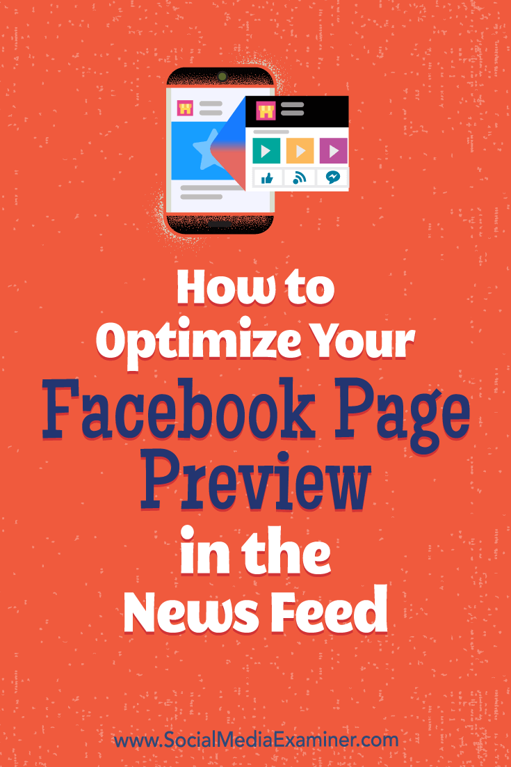 Discover how to optimize your Facebook page preview to boost likes and bring new fans on board.