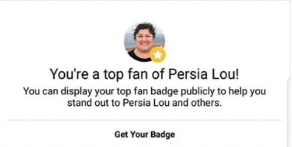 Facebook introduced a new way to highlight a creator's top fans by displaying a badge next to their names and adding their name to a leaderboard of highly engaged fans.