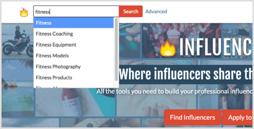 Influenceco search
