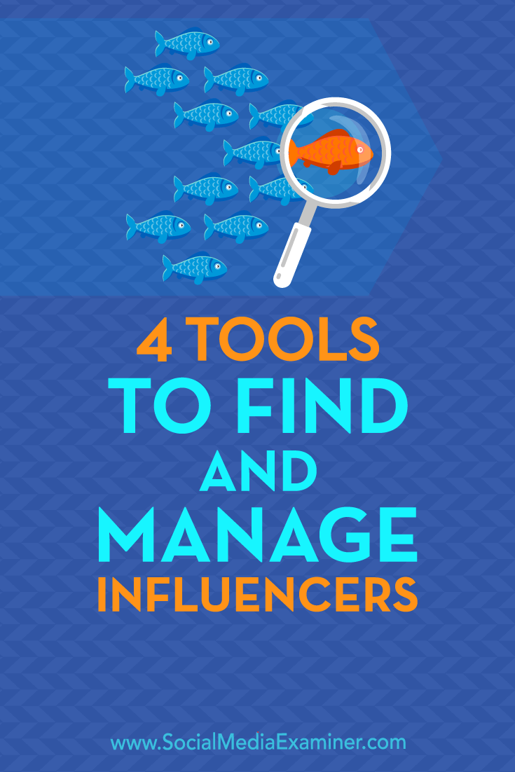 Discover four tools to help you vet and recruit influencers and manage your influencer relationships.
