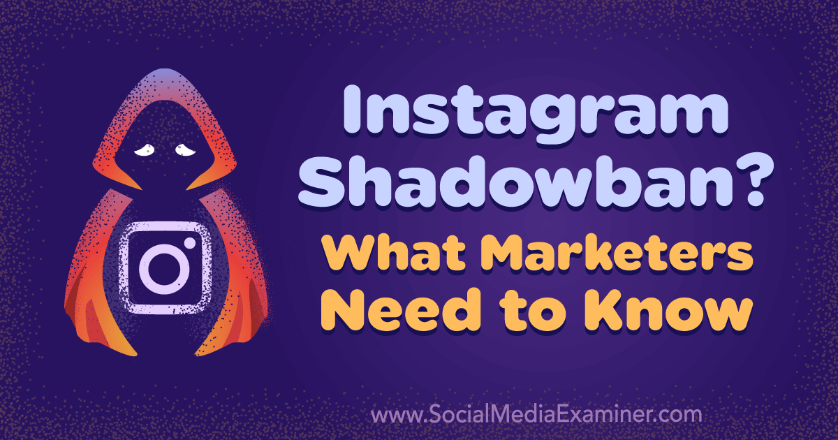 The term Shadowban is used to explain decreases in reach or engagement, account restrictions, or other negative results on the platform.