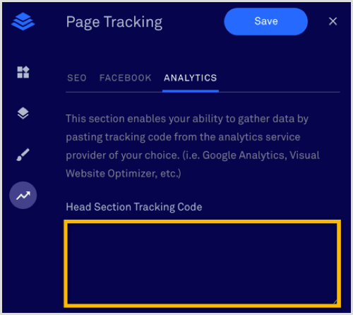 LeadPages Head Section Tracking Code