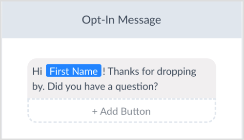 ManyChat edit opt-in message