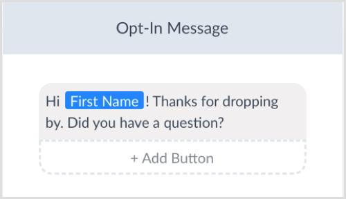 ManyChat edita el mensaje de aceptación