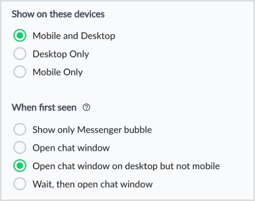 ManyChat se muestra en estos dispositivos