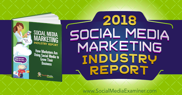 2018 Social Media Marketing Industry Report on Social Media Examiner.