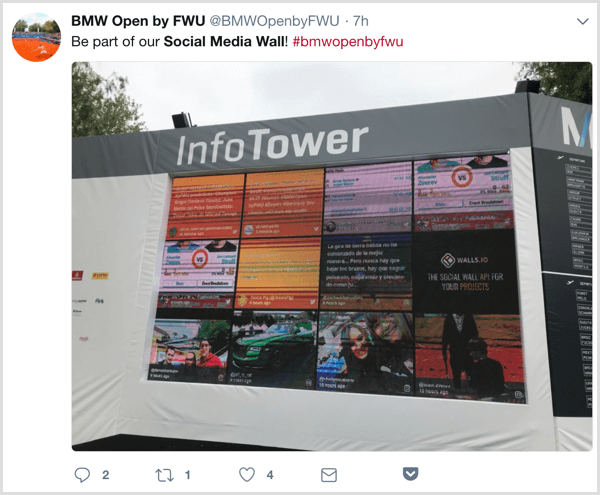 Display posts from event attendees on a social media wall.