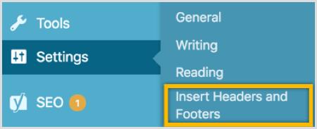 WordPress Insertar encabezados y pie de página plugin